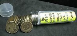 Roll Of 40 1864 Copper Nickel Indian Cents - Cull - No Holes