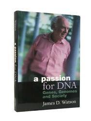 James D. Watson Andndash A Passion For Dna Andndash First Uk Edition 2000 Andndash Signed + Inscribed