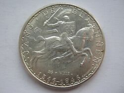 Luxembourg 1946 Silver 100 Francs Gvf