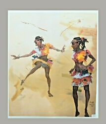 Junmu Chenand039s Oil Painting African Dance 2 Limited Print