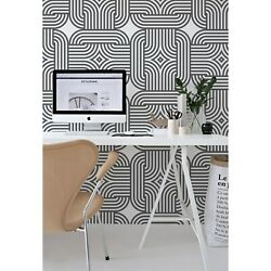 Chain Pattern Wallpaper Abstract Geometric Non-woven Or Traditional Minimalist