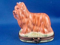 Chanille -Yorkshire Terrier - Yorkie - Dog Breed  - authentic FRENCH LIMOGES box