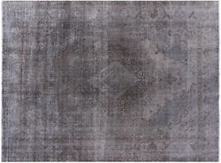 Overdyed Hand Knotted Area Rug 9and039 10 X 13and039 0 - P4149