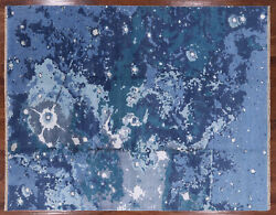 8and039 2 X 10and039 4 Handmade Wool And Silk Abstract Rug - P4362