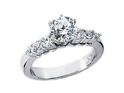 1.20ct Round Diamond Open Gallery Engagement Ring Solid 18k Gold G Si1
