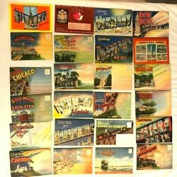 Lot Of 24 Vintage Scenic Pictures Travel Postcard Sets 1950-60s - New York, Etc