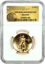 2009 Ultra High Relief $20 NGC MS69 DPL - Very Popular Issue