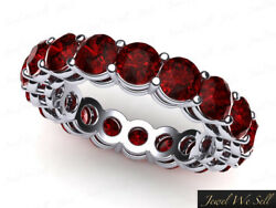 5.80ct Round Cut Ruby Open Gallery Wedding Eternity Band Ring 950 Platinum Aaa