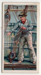1805 British Sailor Heaving The Lead To Check Water Depth C1905 Trade Card