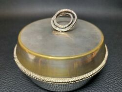 Antique 1900and039s Old Sheffield Silver Plated Trinket Box Ornate Jewellery Pot