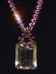IRADJ MOINI 30 Karat Citrine and Amethyst Necklace