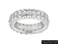 2.50ct Round Diamond 2row Shared Wedding Eternity Band Ring Solid 10k Gold G Si1