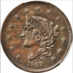 1837 1c N-11 Head Of 1838 Ms63bn Pcgs- Rarity 1-only 2 In Higher Grades-coronet