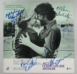 Alice Doesn't Live Here Anymore Cast Signed Laserdisc Foster Scorsesee Beckett