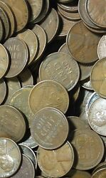 5000 Wheat Cents Lot From 1940 To 1958 Pennies No Culls Some Ef And Above