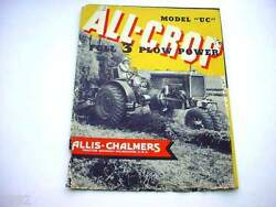 Allis Chalmers Uc Farm Tractor Brochure From The 1930's 16 Pages