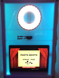 Led Photo Booth Complete Business Booth, Touch Screen, Camera, Laptop, Software