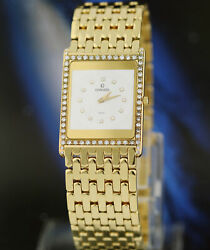 CONCORD Quartz Delirium 18K Solid Yellow & Diamonds 23mm Gold Men's Watch 8