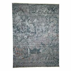 8and0399x11and03910 Hand-knotted Abstract Design Silk With Textured Wool Rug R40992