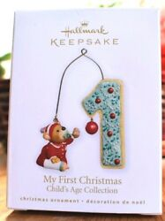 Rare New 2010 Hallmark Childand039s Age Collection My First Christmas Ornament Scarce