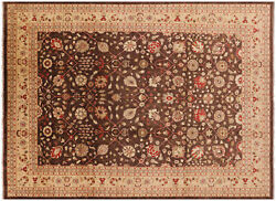 Peshawar Hand Knotted Wool Rug 10and039 0 X 13and039 8 - H9407