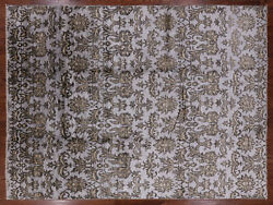 Hand Knotted Silk Area Rug 9and039 0 X 11and039 8 - H8287
