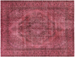 Overdyed Hand Knotted Area Rug 9' 6 X 12' 3 - W2070