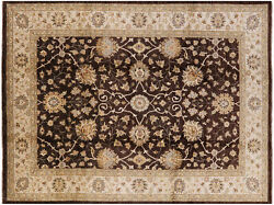 Hand Knotted Peshawar Wool Rug 9and039 1 X 12and039 1 - H9601