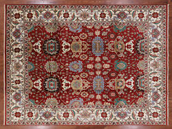 8' 10 X 12' 1 Mahal Hand Knotted Wool Rug - W1256