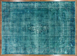 Overdyed Hand-knotted Wool Area Rug 9' 8 X 13' 3 - P5325
