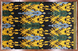 Ikat Hand Knotted Area Rug 6' 1 X 9' 7 - P5515