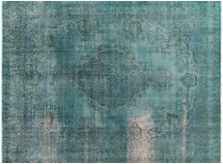 9and039 10 X 12and039 8 Overdyed Hand Knotted Wool Rug - P6555