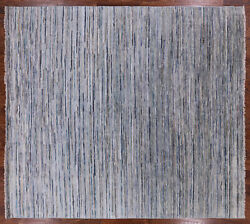 Modern Wool And Silk Hand Knotted Rug 8' 10 X 9' 10 - P9573
