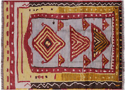 7' 10 X 10' 6 Ikat Hand Knotted Wool Area Rug - H8850