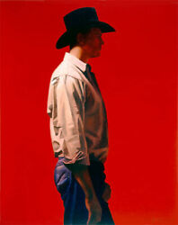 Gary Ernest Smith Man in Red Canvas Giclee