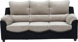 Sofa Underneath Its Seating Cushions Hides A Metal Frame With Armrest