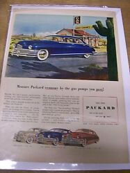 Original Packard Eight Magazine Ad - ...by The Gas Pumps You Pass