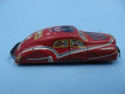 Vintage Small Red Tin Comic Car -- Made In Japan