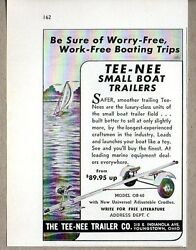 1953 Print Ad Tee-nee Small Boat Trailers Model Ob-40 Youngstownoh