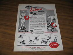 1955 Print Ad Eclipse Lawn Mowers Briggs And Stratton Engines And Models Shown