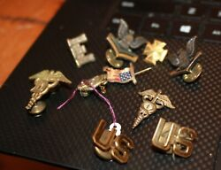 Wwii And Later Collar Pins And Marine Sweetheart Pin Us Army Forces Doctor