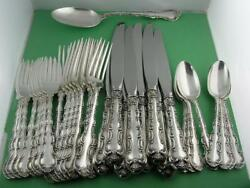 Sterling Gorham 8 4pc Dinner Size Place Settings And Server Strasbourg No Mono