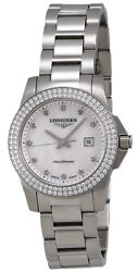 Longines Conquest Stainless Steel And Diamond Womens Watch L32580876