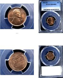 1911-d 1c Ms64rd Pcgs-lincoln Wheat Cent---