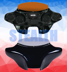Fits Suzuki C50 Motorcycle Batwing Fairing With Stereo - 4 X 5.25 Inch Speakers