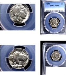 1929-s 5c Ms65 Pcgs- Buffalo Nickel---