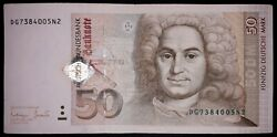 •german Federal 50 Mark Banknote, 1996year,good Condition