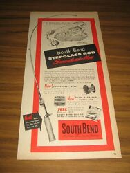 1951 Print Ad South Bend Smoothcast Fishing Reels And Stepglass Rods Indiana