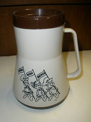 Vintage Kellogg's Car Mug Cup Thermos Reduce, Reuse, Recycle Snap, Crackle, Pop