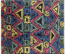 8and039 7 X 9and039 10 Moroccan South Western Navajo Design Hand-knotted Rug - H8818